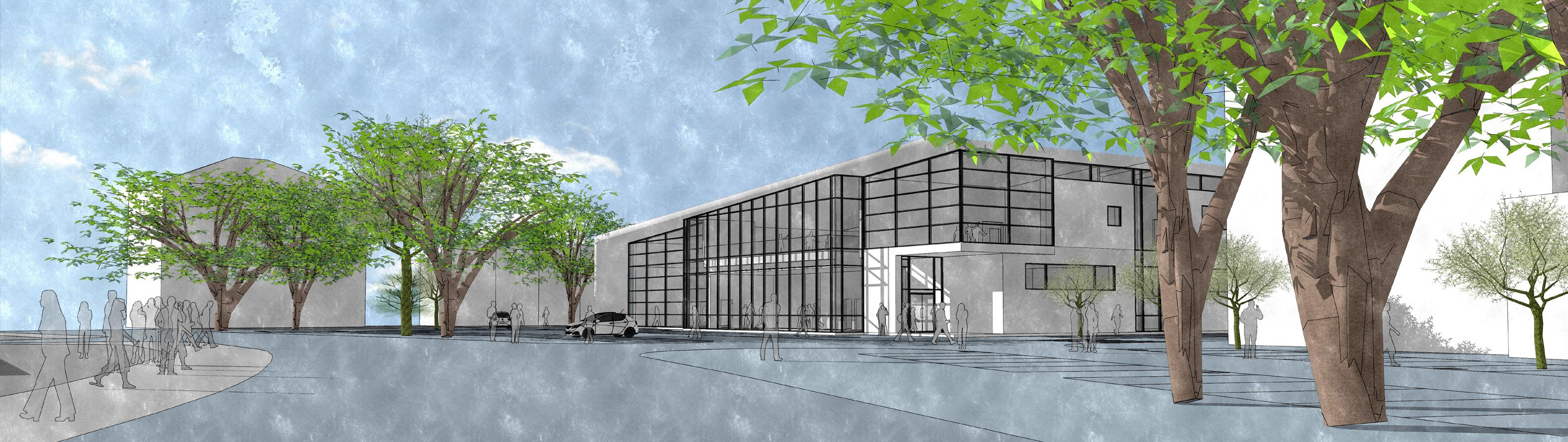 Proposed LC view from west