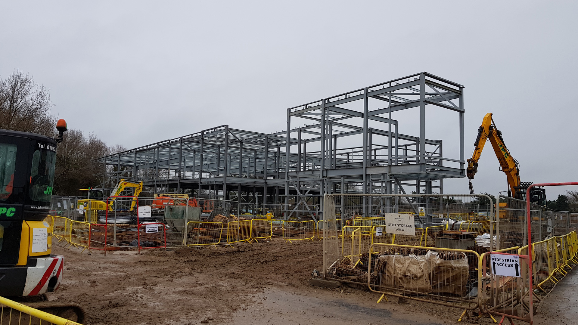 steel superstructure A